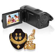 VOX DV504 12MP Digital HD Video Camcorder + Classic 1 Gram Gold Plated Jewellery
