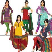 Karishma Set of 5 Ethnic Printed Dress Material (5P3)