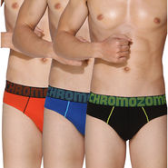 Pack of 3 Chromozome Regular Fit Briefs For Men_10204 - Multicolor