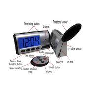 Digital Alarm Clock With Digital Camera - Silver