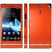 Snooky Mobile Skin Sticker For Sony Xperia S 20823 - Orange