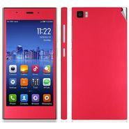Snooky Mobile Skin Sticker For Xiaomi Mi3 20720 - Red
