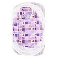 Wonderkids Purple Strawberry Print Baby Bedding Set With Mosquito Net_MW-182-PSBMS