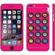 Snooky 28420 Digital Print Mobile Skin Sticker For Apple Iphone 6 - Pink