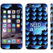 Snooky 28441 Digital Print Mobile Skin Sticker For Apple Iphone 6 Plus - Blue