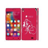 Snooky 27705 Digital Print Mobile Skin Sticker For Gionee Elife 5.1 - Pink