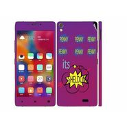 Snooky 27709 Digital Print Mobile Skin Sticker For Gionee Elife 5.1 - Purple