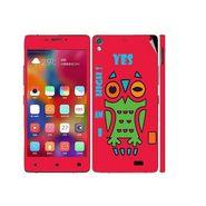 Snooky 27712 Digital Print Mobile Skin Sticker For Gionee Elife 5.1 - Rose Pink