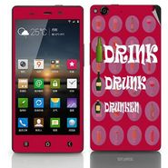 Snooky 27747 Digital Print Mobile Skin Sticker For Gionee Elife E6 - Rose Pink