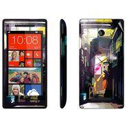 Snooky 28175 Digital Print Mobile Skin Sticker For HTC 8X C620E - Multi