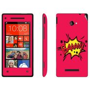 Snooky 28167 Digital Print Mobile Skin Sticker For HTC 8X C620E - Pink