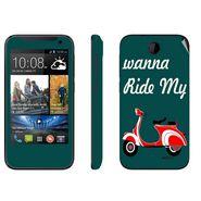 Snooky 27805 Digital Print Mobile Skin Sticker For HTC Desire 310 - Green