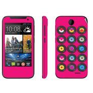 Snooky 27821 Digital Print Mobile Skin Sticker For HTC Desire 310 - Pink