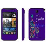 Snooky 27809 Digital Print Mobile Skin Sticker For HTC Desire 310 - Purple