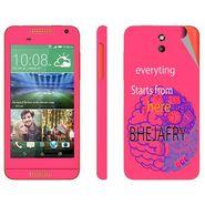 Snooky 28081 Digital Print Mobile Skin Sticker For HTC Desire 610 - Pink