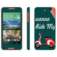 Snooky 28078 Digital Print Mobile Skin Sticker For HTC Desire 610 - Green