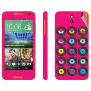 Snooky 28094 Digital Print Mobile Skin Sticker For HTC Desire 610 - Pink