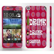 Snooky 28102 Digital Print Mobile Skin Sticker For HTC Desire 820 - Pink