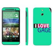 Snooky 28241 Digital Print Mobile Skin Sticker For HTC One E8 - Green