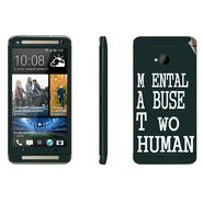 Snooky 28266 Digital Print Mobile Skin Sticker For HTC One M7 - Multi