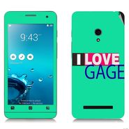 Snooky 27642 Digital Print Mobile Skin Sticker For Asus Zenfone 5 A501CG - Green