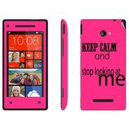 Snooky 28162 Digital Print Mobile Skin Sticker For HTC 8X C620E - Pink