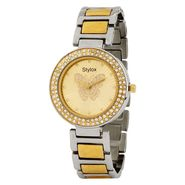 Stylox Round Dial Analog Watch_whstx501 - Golden