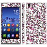 Snooky 38783 Digital Print Mobile Skin Sticker For Xiaomi Mi3 - Pink