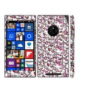 Snooky 38794 Digital Print Mobile Skin Sticker For Nokia Lumia 830 - Pink