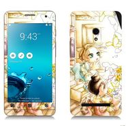 Snooky 38837 Digital Print Mobile Skin Sticker For Asus Zenfone 5 - White
