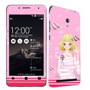 Snooky 38856 Digital Print Mobile Skin Sticker For Asus Zenfone 6 A600CG/A601CG - Pink