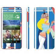Snooky 38927 Digital Print Mobile Skin Sticker For HTC Desire 610 - Blue