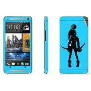 Snooky 39010 Digital Print Mobile Skin Sticker For HTC One M7 - Blue