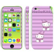 Snooky 39055 Digital Print Mobile Skin Sticker For Apple Iphone 5C - Purple