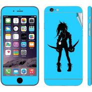 Snooky 39070 Digital Print Mobile Skin Sticker For Apple Iphone 6 - Blue