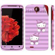 Snooky 39103 Digital Print Mobile Skin Sticker For Lenovo S820 - Purple