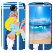 Snooky 39119 Digital Print Mobile Skin Sticker For Lenovo S920 - Blue