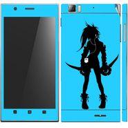 Snooky 39142 Digital Print Mobile Skin Sticker For Lenovo K900 - Blue