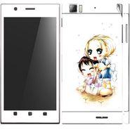 Snooky 39145 Digital Print Mobile Skin Sticker For Lenovo K900 - White