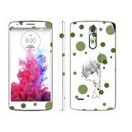 Snooky 39153 Digital Print Mobile Skin Sticker For LG G3 Stylus - White