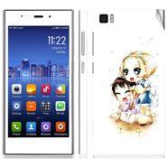 Snooky 39193 Digital Print Mobile Skin Sticker For Xiaomi Mi3 - White