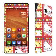 Snooky 39210 Digital Print Mobile Skin Sticker For Xiaomi Redmi 1s - Pink