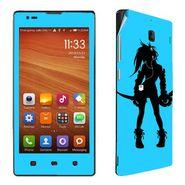 Snooky 39214 Digital Print Mobile Skin Sticker For Xiaomi Redmi 1s - Blue