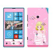 Snooky 39240 Digital Print Mobile Skin Sticker For Nokia Lumia 520 - Pink