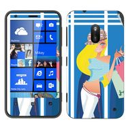 Snooky 39251 Digital Print Mobile Skin Sticker For Nokia Lumia 620 - Blue