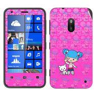 Snooky 39255 Digital Print Mobile Skin Sticker For Nokia Lumia 620 - Pink