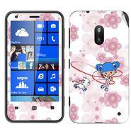 Snooky 39256 Digital Print Mobile Skin Sticker For Nokia Lumia 620 - White