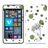 Snooky 39261 Digital Print Mobile Skin Sticker For Nokia Lumia 625 - White