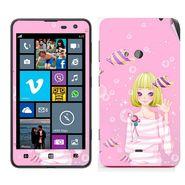Snooky 39264 Digital Print Mobile Skin Sticker For Nokia Lumia 625 - Pink