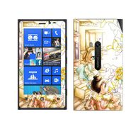 Snooky 39269 Digital Print Mobile Skin Sticker For Nokia Lumia 920 - White